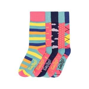 Sada 5 párov farebných ponožiek Funky Steps Miranda, veľ. 35-39