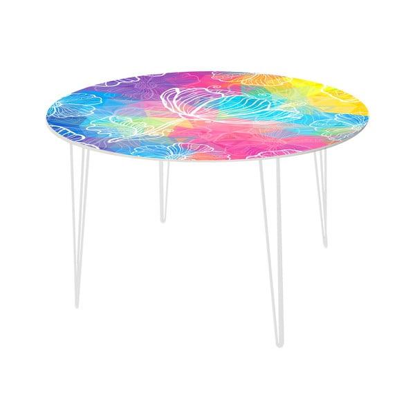 Jedálenský stôl Flower Jellyfish, 120 cm