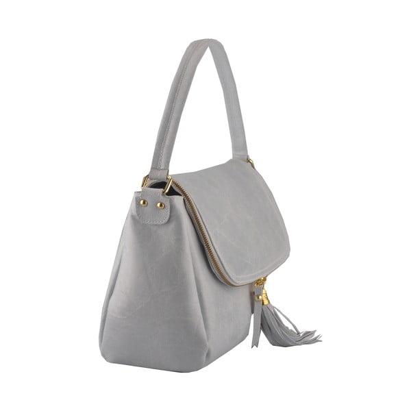 Kožená kabelka Diadema, sivá