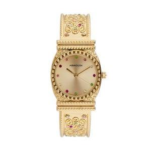 Dámske hodinky zlatej farby s kryštálmi Manoush Afrodité