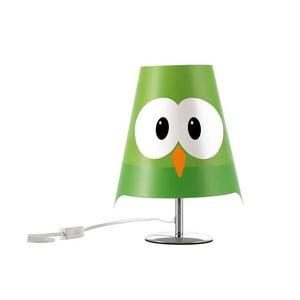 Zelená detská lampička e-my Lucignolo