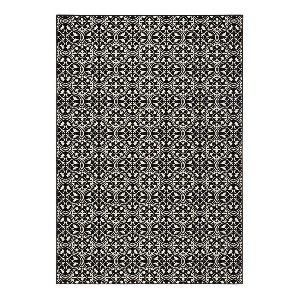 Čierny koberec Hanse Home Gloria Pattern, 80 x 150 cm