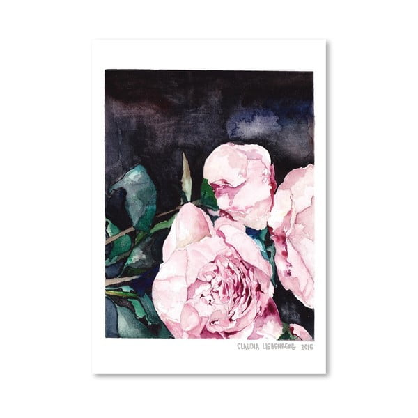 Plagát Blooms on Black I, 30x42 cm