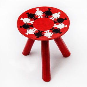 Ručne maľovaná stolička Mandra, 28 cm