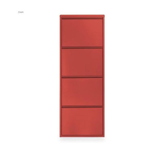 4-dielna skrinka na topánky Zapatero, červená