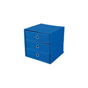 Modrý úložný box so zásuvkami 13Casa Lolly