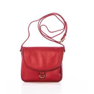 Červená kožená kabelka Gianni Conti Adreanna