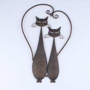 Hnedá dekorácia na stenu Dakls Cats