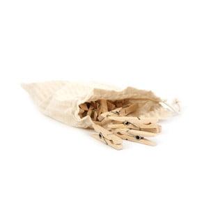 Drevené štipce v taštičke Iris Hantverk