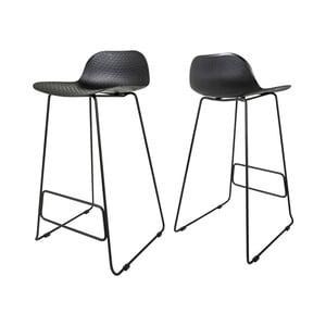 Čierna barová stolička Canett Paris