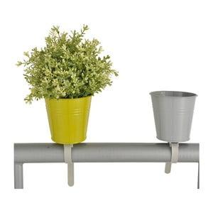 Sada 2 kvetináčov na zábradlie Esschert Design Magic