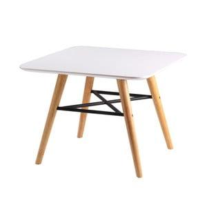 Biely konferenčný stolík snohami vdekore svetlého dreva sømcasa Andy