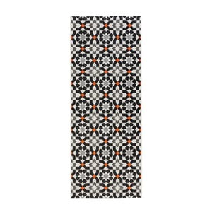 Čierny kuchynský behúň Zala Living Mosaic, 80 x 200 cm