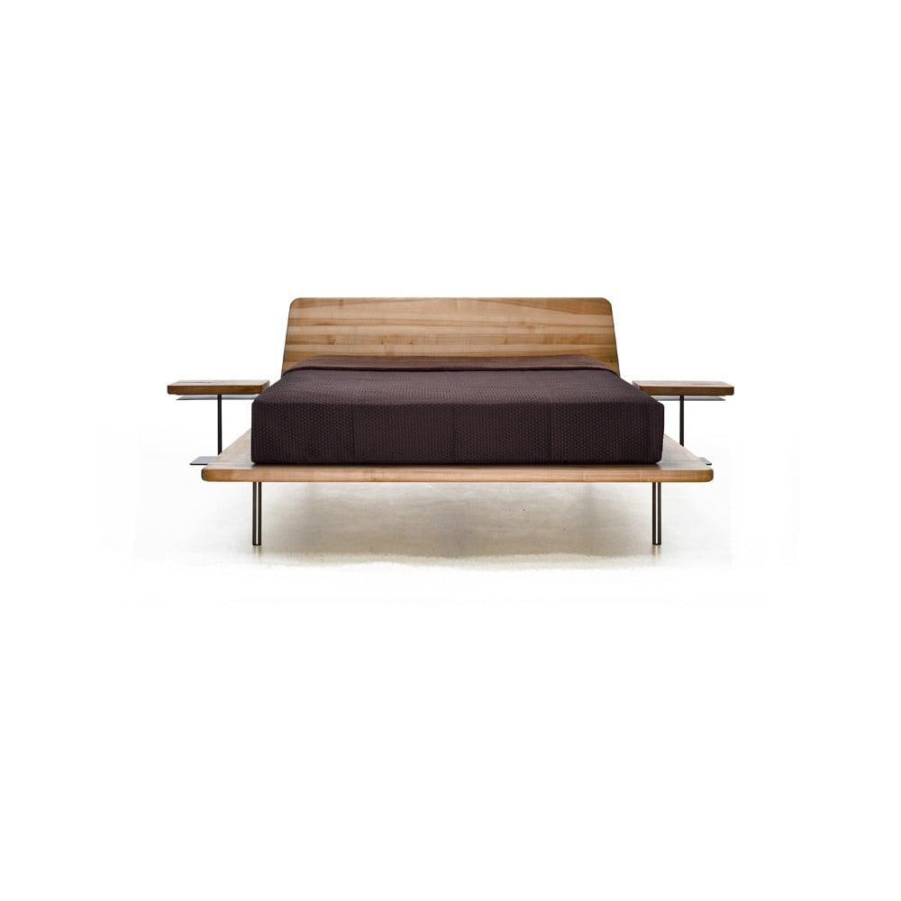 Posteľ z olejovaného jaseňového dreva Mazzivo Letto, 120 × 200 cm