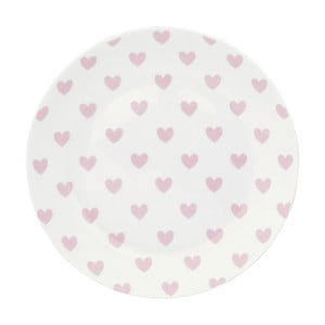 Keramický tanier Miss Étoile Rose Hearts, ⌀17 cm