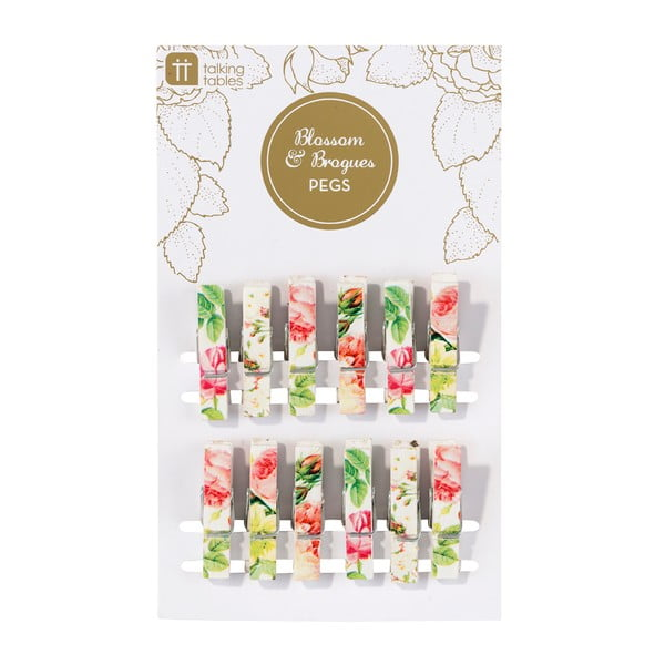 Sada 12 dekoratívnych štipcov Talking Tables Blossom
