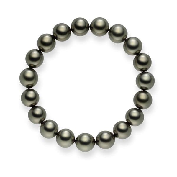 Svetlosivý perlový náramok Pearls Of London Mystic, dĺžka 19 cm