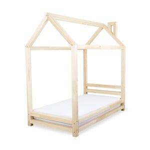 Detská posteľ z prírodného borovicového dreva Benlemi Happy, 80×160cm