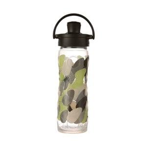 Sklenená fľaša na vodu so silikónovým chráničom Lifefactory Envy Activ Premium, 475 ml