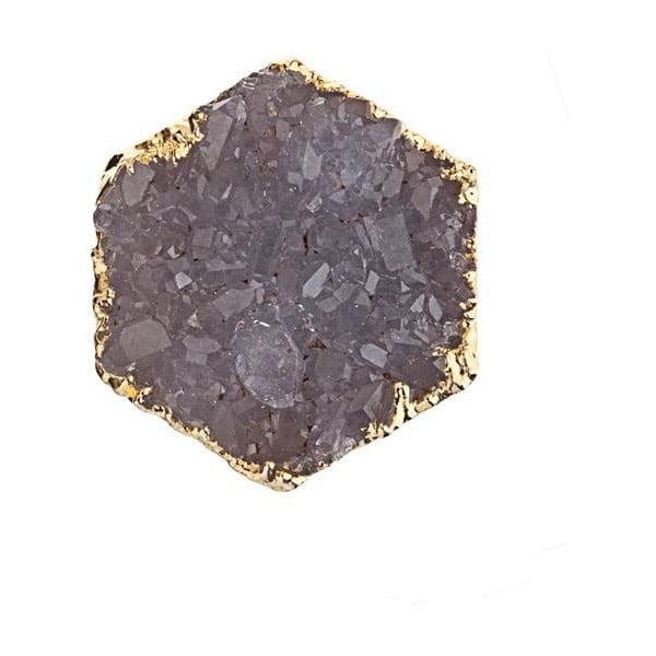 Náušnice z fialového ametystu Decadorn
