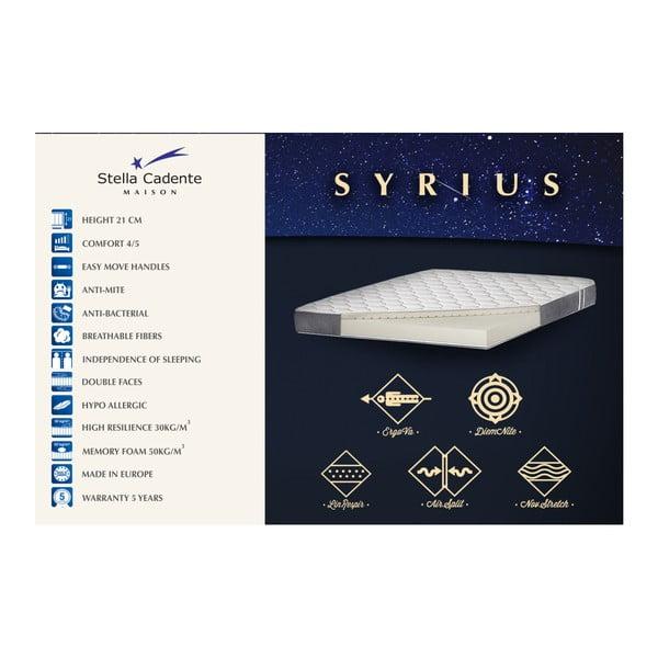 Sivá posteľ s matracom a 2 boxspringmi Stella Cadente Maison Syrius Forme, 180 × 200 cm