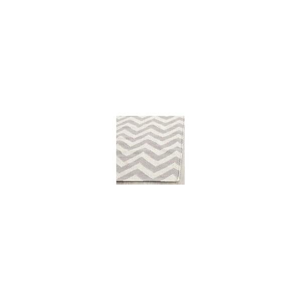 Vlnený koberec Nellaj 91 x 152 cm, sivý