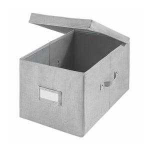 Sivý úložný bo× iDesign Codi, 43,1 × 29,8 cm
