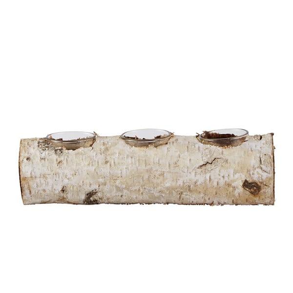 Stojanček na čajovú sviečku Birch, 23 cm