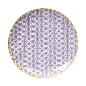 Fialový porcelánový tanier Tokyo Design Studio Star, ⌀ 25,7 cm