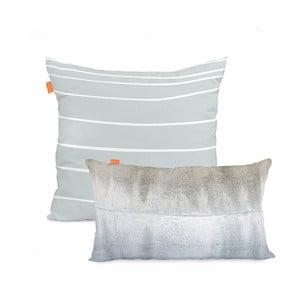 Sada 2 bavlnených obliečok na vankúš Blanc Quartz, 50 x 50 cm