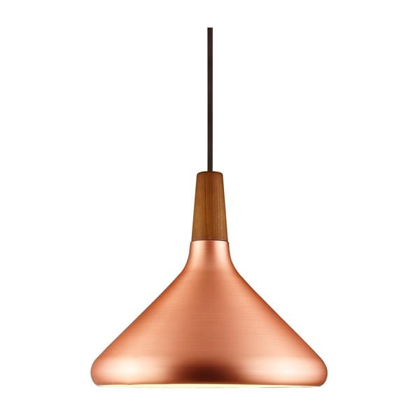 Závesné svietidlo Float 27x27cm, medené