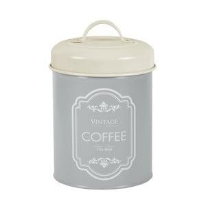 Sivá plechová dóza na kávu Ego Dekor