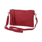 Tmavočervená kabelka z pravej kože Andrea Cardone Michele