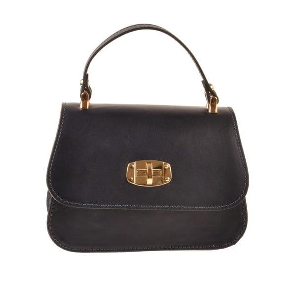 Kožená kabelka Flaux, tmavo modrá