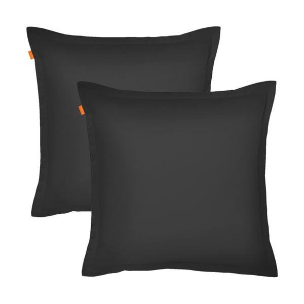 Sada 2 čiernych obliečok navankúš HF Living Basic, 60×60cm