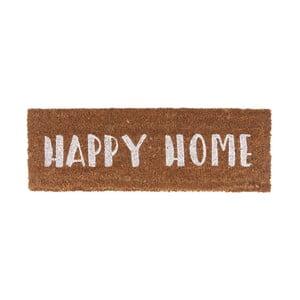 Rohožka s bílým nápisom PT LIVING Happy Home, 26 x 75 cm