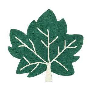 Zelený bavlnený koberec Nattiot Erable, 110×110 cm