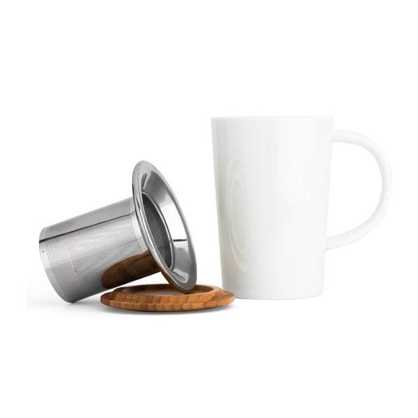 Hrnček na čaj so sitkom a vrchnákom Bredemeijer Bamboo, 400 ml
