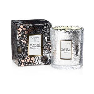 Sviečka s vôňou gardénie, nočného hyacintu a tuniských klinčekov Voluspa, 50 hodín horenia