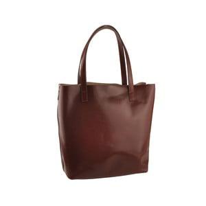 Hnedá kožená kabelka Florence Tangor