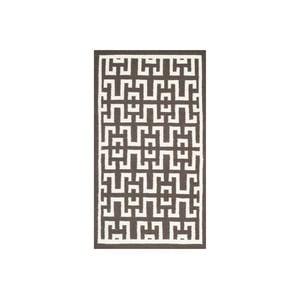 Vlnený koberec Safaj 91x152 cm, hnedý
