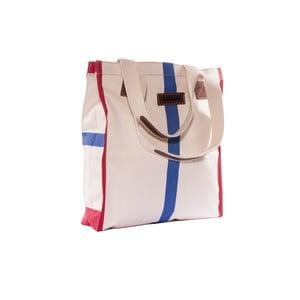 Plátená taška Anna Bag, červená/modrá