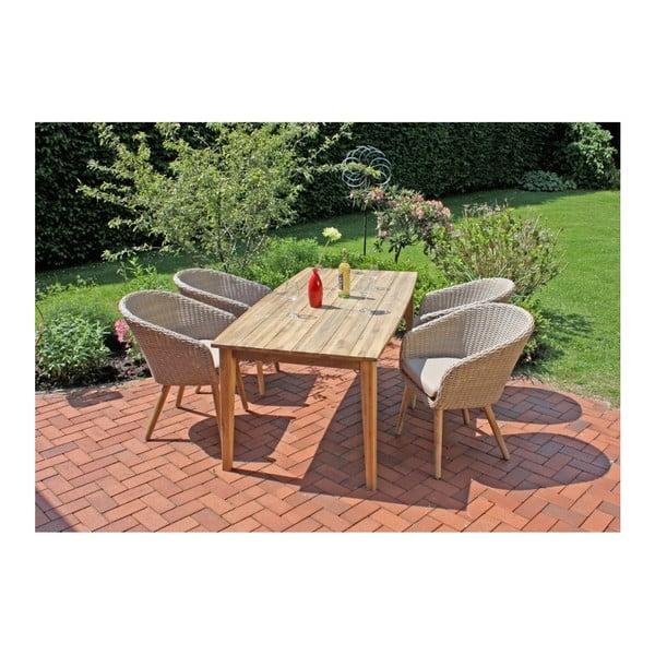 Záhradný stôl z akáciového dreva ADDU Visalia