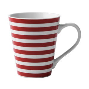 Porcelánový hrnček Red Striped
