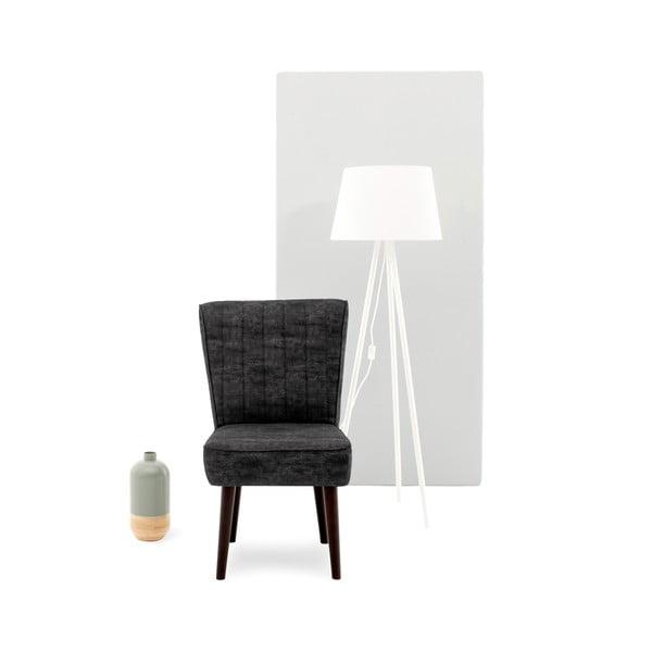 Tmavosivá čalúnená stolička Vivonita Leila