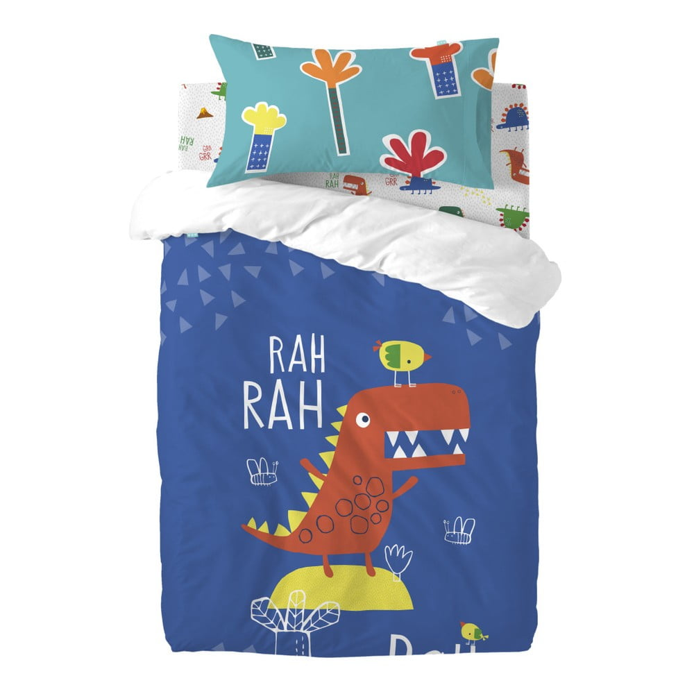 Detské bavlnené obliečky Moshi Moshi Funnysaurus, 115 × 145 cm