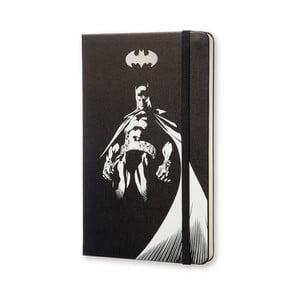 Veľký čierny zápisník Moleskine Batman, bezlinajok