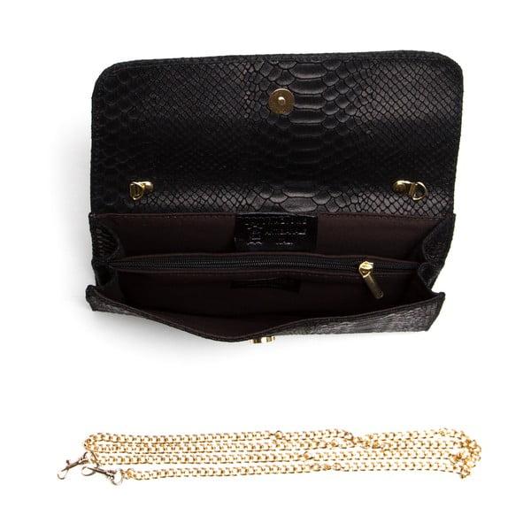Kožená listová kabelka Isabella Rhea 8018, čierna