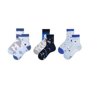Sada 3 párov detských ponožiek v darčekovom balení Many Mornings Bear, veľ. 31–34