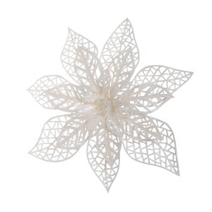 Biela dekorácia Ewax Rosaria